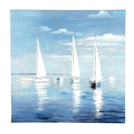 Bild Auf See, handgemalt 100 x 100 cm