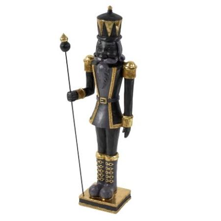 Figur Nussknacker schwarz gold 50 cm