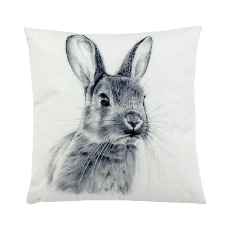 Outdoor-Kissen Cute Bunny 45 x 45 cm