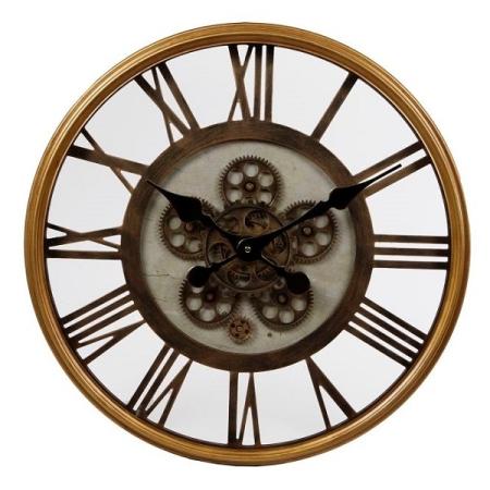 Wanduhr offenes Uhrwerk 54,5 cm