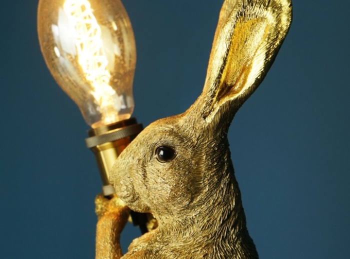 Meister Lampe Hase mit Lampe