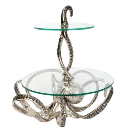 Etagere Oktopus, Aluminium & Glas